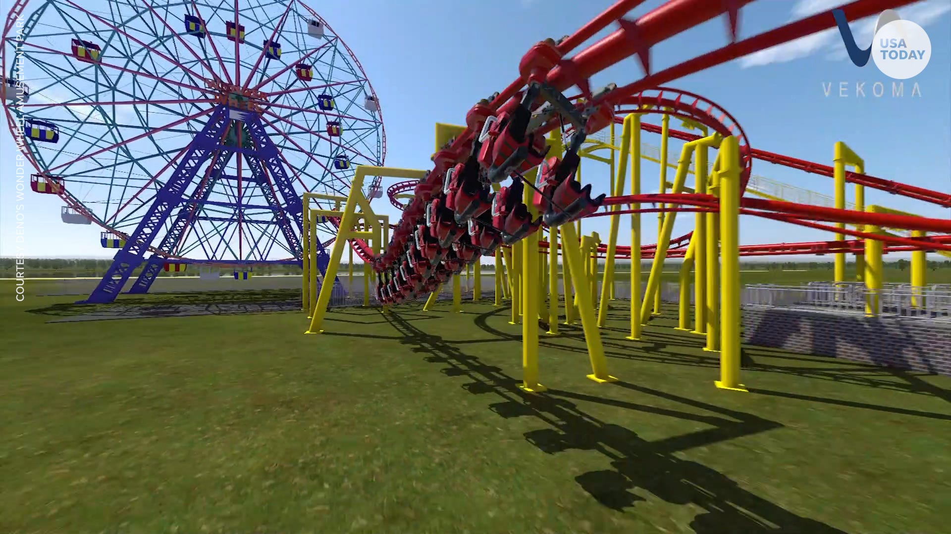 New 'Phoenix' suspended thrill roller coaster will rise at New York's Coney Island