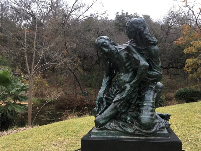 "Charles Umlauf's 1945 bronze, ""Pietà,"" is among the sacred art at the Umlauf Sculpture Garden and Museum."