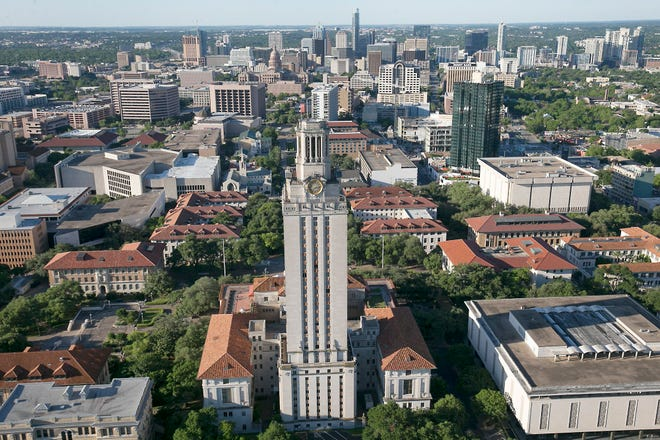University of Texas campus viewed from the north. [RALPH BARRERA/AMERICAN-STATESMAN]