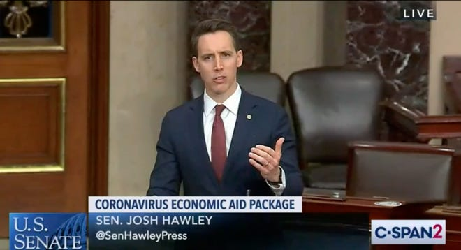 U.S. Sen. Josh Hawley (R-Mo.) argues for $1,200 stimulus checks for American families.