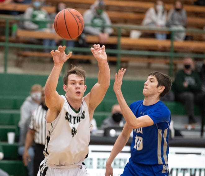 Smithville's Caleb Keib (left) has been a football, basketball and track standout for the Smithies while maintaining excellence in the classroom.