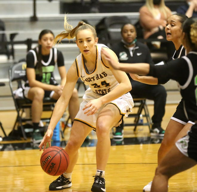 Fort Hays State's Cydney Bergmann scored 15 points and grabbed six rebounds in an 80-60 win over Northeastern State on Friday night at Gross Memorial Coliseum.