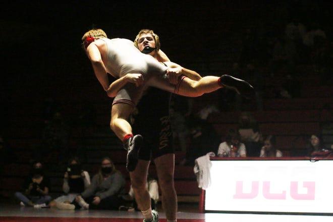 Woodward-Granger's Jon McKeever wrestles an opponent on Thursday, Dec. 17 in Grimes.