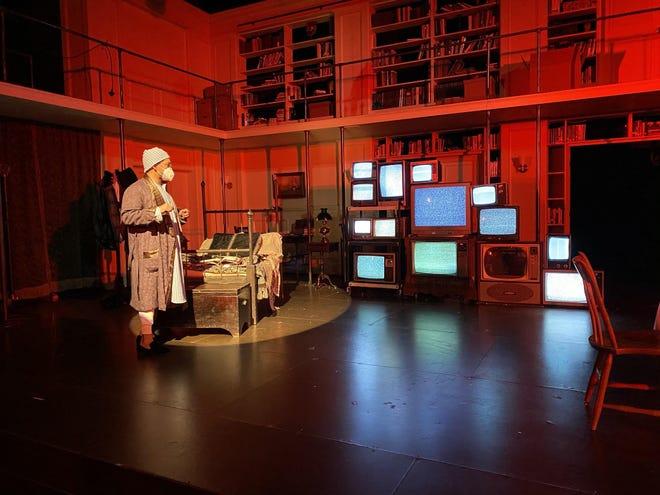 "Joe Wilson Jr. as Scrooge in Trinity Rep's filmed version of ""A Christmas Carol,"" streaming for free through Jan. 10."