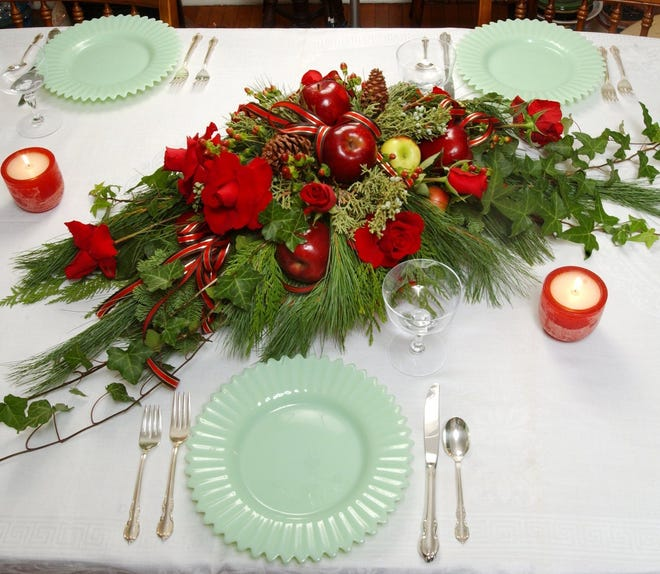 A smaller Christmas table is in the cards for this year.
