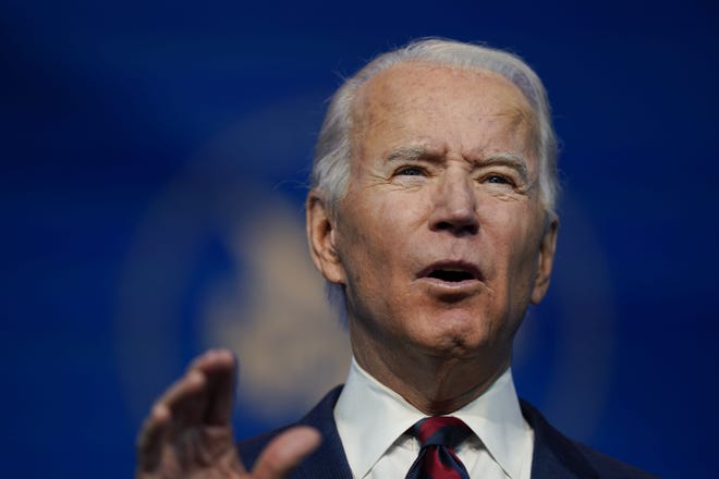 President-elect Joe Biden announces his climate and energy team nominees and appointees Saturday at The Queen Theater in Wilmington, Del.