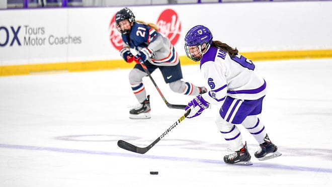 For the second day in a row, a women's hockey game between Holy Cross and Northeastern was called off.
