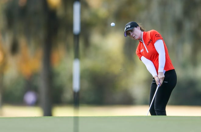 Shrewsbury's Brittany Altomare recorded her first under-par round of the LPGA CME Group Tour Championship, with a 1-under 71 on Saturday.