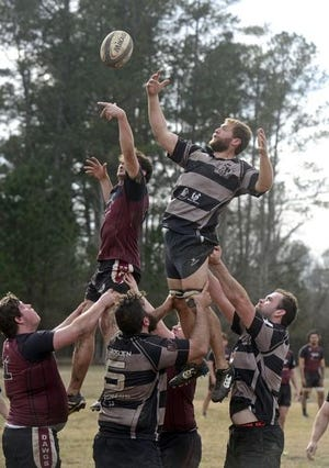 The Gadsden Pioneers Rugby Club, seen in action in 2018, is ready to get back to play after being sidelined since March because of the ongoing coronavirus pandemic. (Michael Rodgers/The Gadsden Times/File)