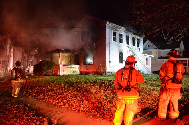 A Saturday morning fire heavily damaged three apartments at the corner of Glenwood Avenue and College Street.