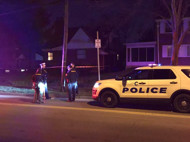 District Four police officers are on the scene of a shooting in the 1500 block of Section Road in Roselawn