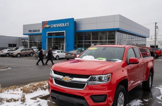 Vehicles in the lot of Feldman Chevrolet of Livonia  on December 18, 2020.