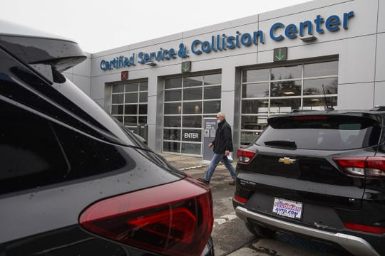 The Certified Service and Collision Center at Feldman Chevrolet of Livonia on December 18, 2020.