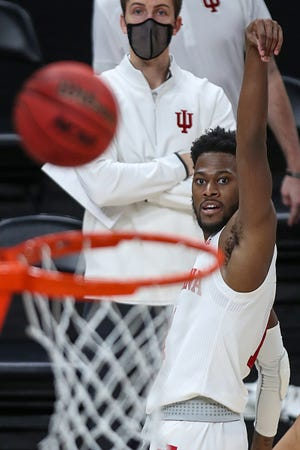 Aljami Durham shot 38% or better from 3-point range in each of his last two seasons at Indiana.
