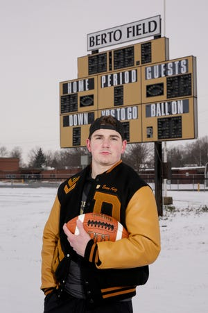 Delphi's Evan Fritz is the 2020 Journal & Courier Small School Offensive Football Player of the Year.