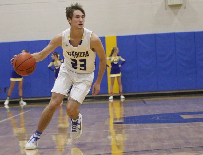 Ontario's Griffin Shaver became the fifth Warrior in boys basketball program history to score 1,000 career points in a win over Clear Fork.