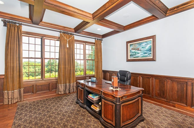 A paneled office inside the Long Hollow Pike home.