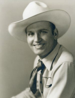 Gene Autry, known as 'The Singing Cowboy,' is seen here in an undated photo.