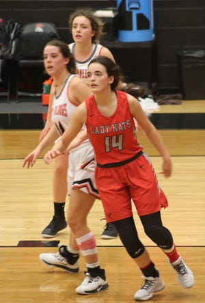 Garden City High School's Bailey Dehlinger (14) was voted the Standard-Times Girls Basketball Player of the Week for Dec. 7-13 of the 2020-21 season.