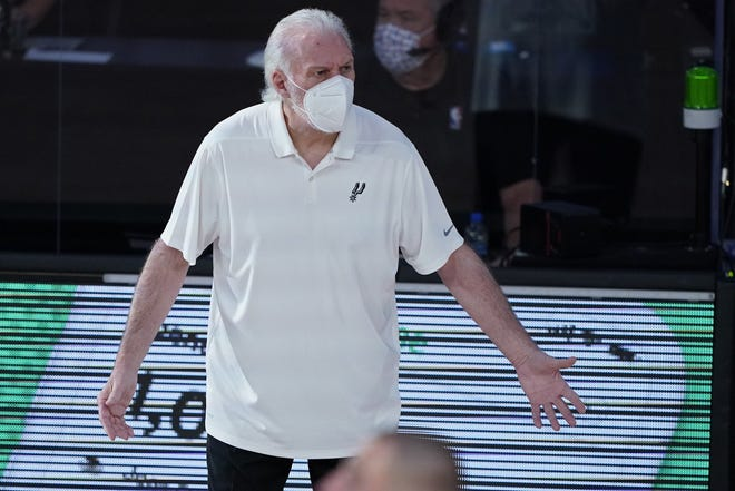 "San Antonio Spurs coach Gregg Popovich is embracing how his team used athletic wings during the NBA's bubble in Orlando this summer. In regards to missing the playoffs for the first time since 1997, Popovich said: ""It's time to make a change. Play a different way."""