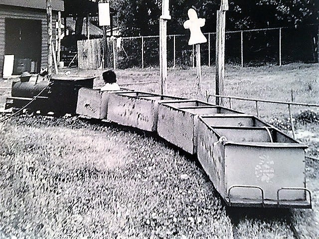 The children's train at Fat Man's Forest was a happy memory for many young Augustans.