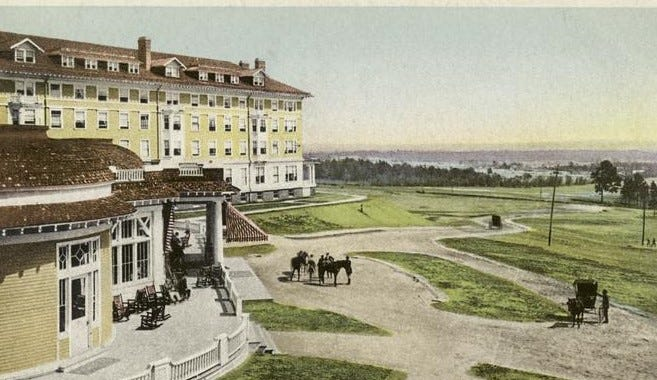 The Hampton Terrace Hotel in North Augusta burned on New Year's Eve 1916.