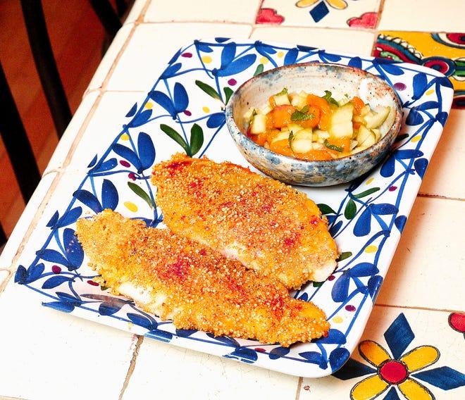 Quinoa-crusted catfish