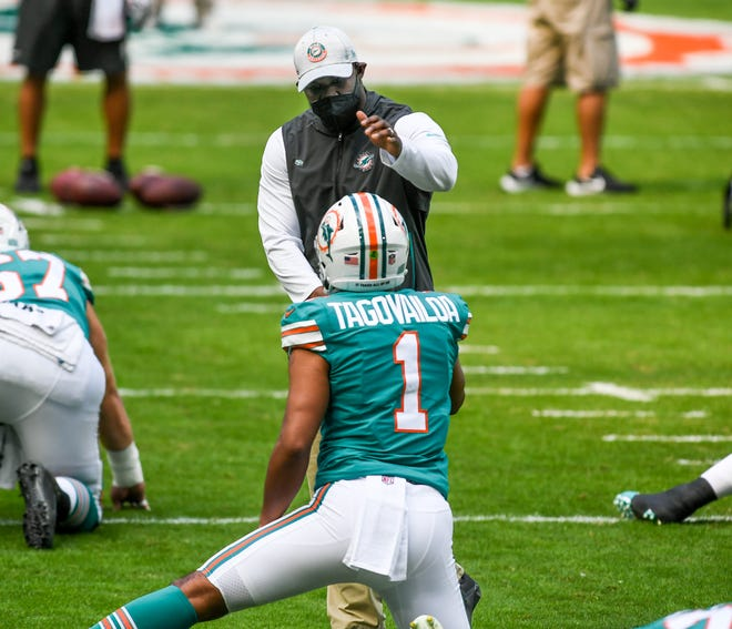 Dolphins coach Brian Flores is sure to want Tua Tagovailoa to have as many reps in practice as possible entering his second season.