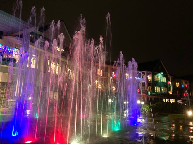 Woodford Grand, an assisted living and memory care home, lights up with handmade displays by residents so people could drive through and enjoy the display on Saturday, Dec. 20, 2020