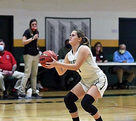 Junior Jamie Springstead is Saint Stephen's all-time leading scorer after reaching the 1,000-point plateau this season. She scored her 1,028th point,which is now the school's all-time record, against Out-of-Door Academy on Dec. 11.
