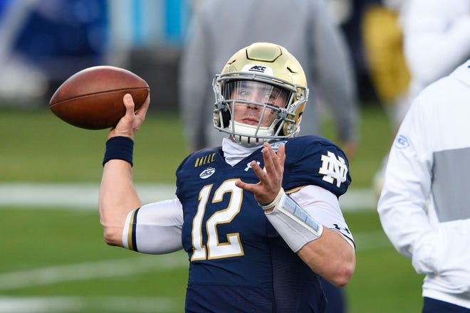 Quarterback Ian Book and his Notre Dame football team will get the chance to face top-seeded Alabama in a national semifinal.