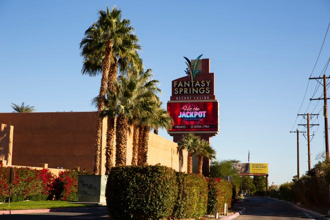 Fantasy Springs Resort Casino is open in Indio, Calif., on December 19, 2020. Tribal casinos across California remain open despite regional stay-at-home orders from the state.