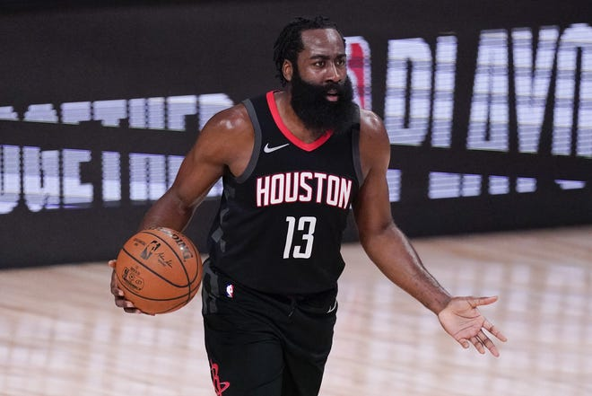 Houston guard James Harden remains a member of the team despite trade rumors swirling around the superstar. The Rockets traded star point guard Russell Westbrook to the Washington Wizards in the offseason.