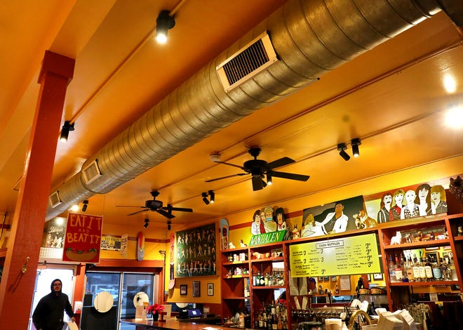 Central Ohio restaurants, including Dirty Franks, shown here, are installing new air filtration equipment to help reduce the risk of coronavirus infection.