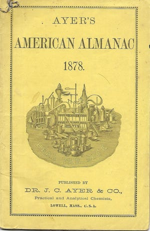 An almanac put out by a popular manufacturer of Boot Hill Museum's sarsaparilla