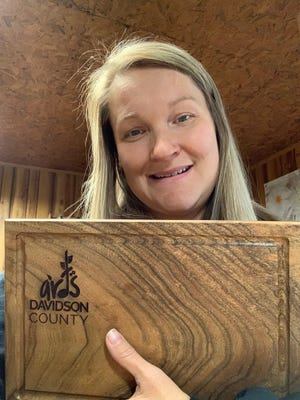 Thomasville resident Scarlett Howell, who owns Betsy Jane Studio, is one of two local artists who are making charcuterie boards fora New Year's Eve Arts Davidson County fundraiser.