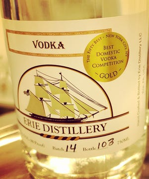 Erie Distillery, 1101 Peninsula Drive, won gold for domestic vodka from The Fifty Best tasting organization. Altered State Distillery, 1535 W. Eighth St., also won gold for their White Mink Vodka.
