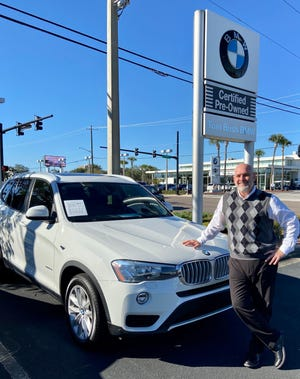 Tom Bush BMW Certified Pre-Owned Sales Manager Andrew Buttrill has a nice selection of SUVs at his Atlantic Boulevard store, including this 2017 Alpine White X3 sDrive28i.