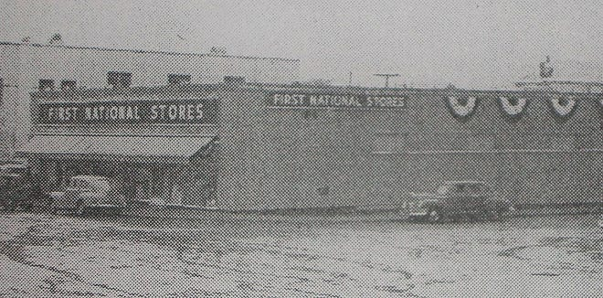 First National Stores in Gardner is shown at its grand opening in 1950.
