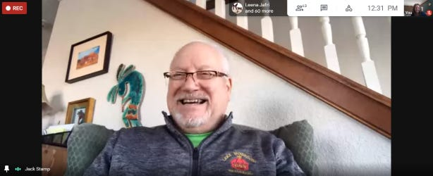Composer Jack Stamp recently met with members of the Jackson Symphony Band via Google Meet to discuss his career and his music.