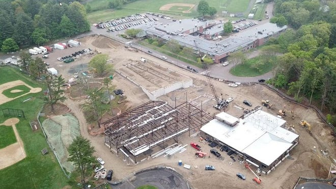 The new Clyde Brown Elementary School, while under construction in 2019. (Photo: Courtesy)
