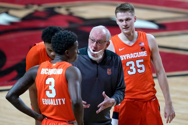 Syracuse's men's basketball team postponed Tuesday's game against ACC foe Notre Dame. The news comes after Buffalo, SU's most recent opponent, had members of its team test positive for COVID-19.