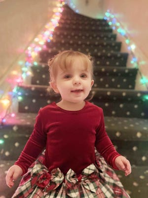 It is almost Christmas Day and Charleigh Fosdick, 1, knows it by her big smile. Parents Craig and Nicole Fosdick of Pontiac look to add to what Santa Claus brings and increase that smile even more.