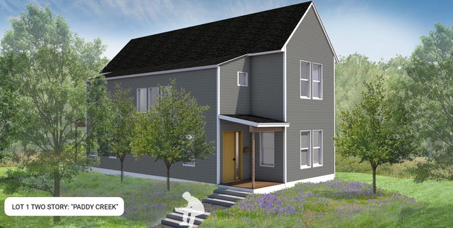 A plan to build affordable homes in Kennebunkport, Maine, in 2021 includes two-story homes.