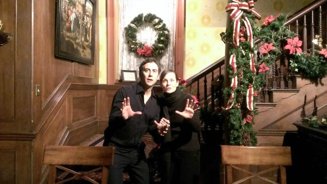 Joe and Therese Plummer reenacted a reading of a holiday favorite for the Grey Towers Heritage Association.