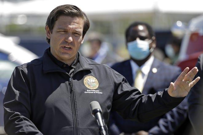 Florida Gov. Ron DeSantis speaks during a coronavirus news conference in May in Sarasota. [AP Photo/Chris O'Meara]