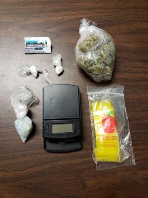 Authorities found suboxone, crack cocaine and methamphetamine, and marijuana, on the scene.