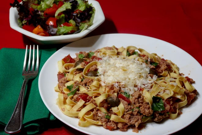 Pasta with Tuna Sauce is a quick and easy dish to make.