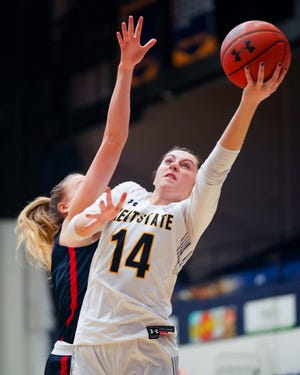 Sophomore guard Katie Shumate led Kent State in scoring with 17 points in Saturday's loss at Central Michigan.