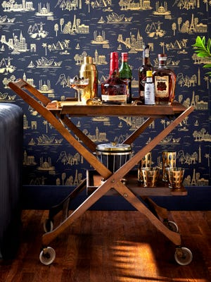 RETURN OF A CLASSIC: Once a staple of golden era films, we welcomed the bar cart back into our homes this year, where they are serving up sips for all occasions. (Photo courtesy of Antonis Achilleos)